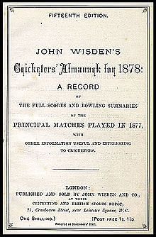 Father of modern cricket: John Wisden