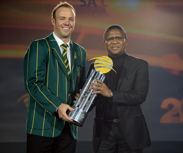 AB de Villiers dominates Cricket South Africa awards 2014, wins 4 including Cricketer of the Year