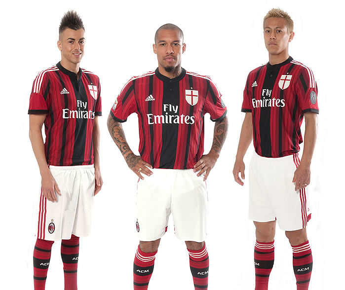 Images released of new AC Milan kits for the 2014/15 season [Pictures]