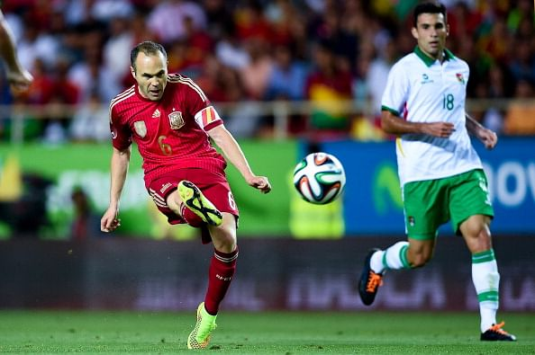 Andres Iniesta looks to help fire Spain in World Cup