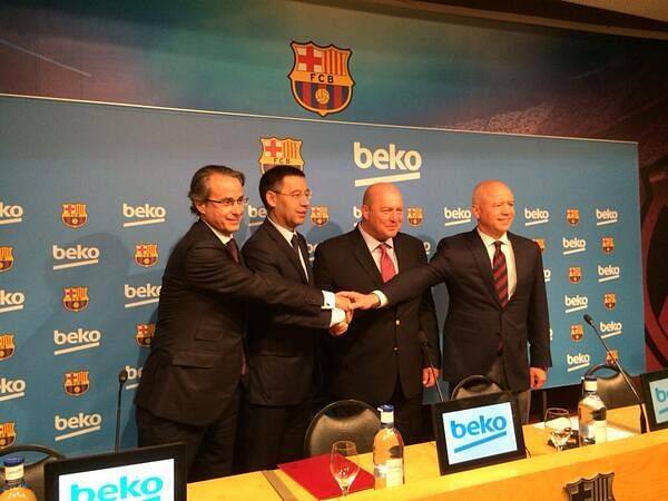 Barcelona get fourth official sponsor's logo on their kit