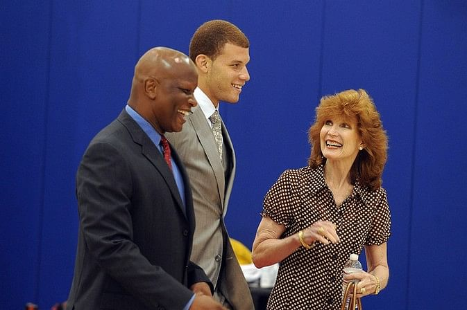 Blake Griffin Parents Blake griffin with his parents