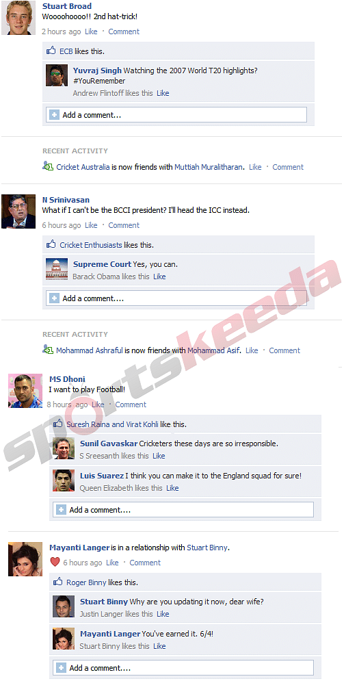 FB Wall: What cricketers are up to on Facebook: Broad celebrates, Binny updates