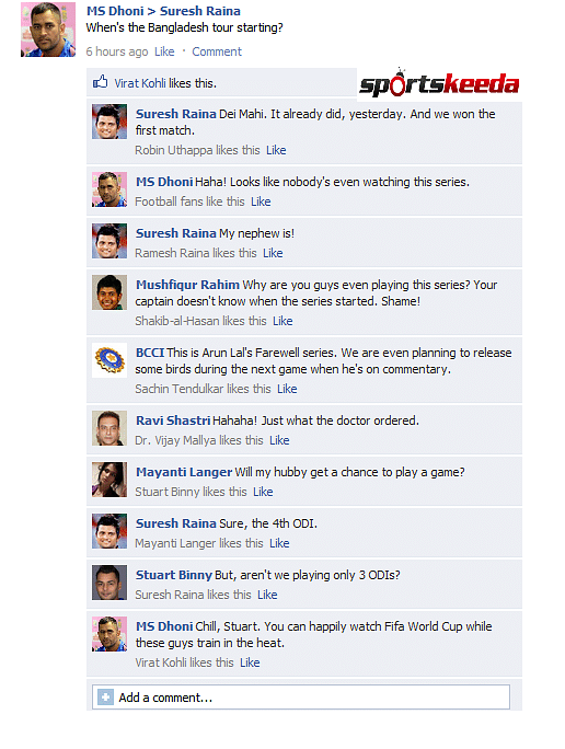FB Wall: The series nobody's watching - MS Dhoni and Suresh Raina discuss the Bangladesh tour