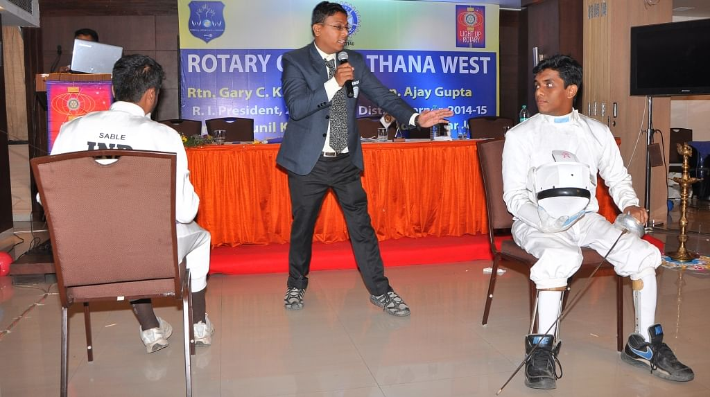 Rotary Club of Thane to sponsor Maharashtra wheelchair fencing team