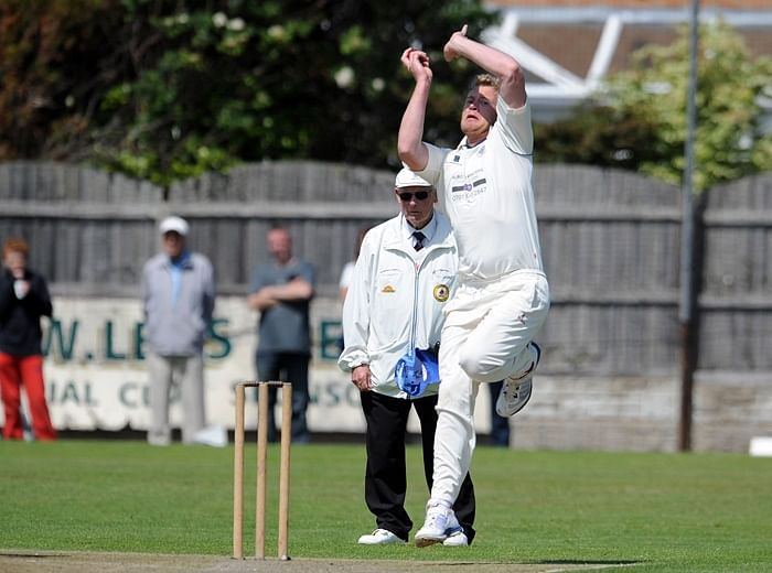 Video: Flintoff has still got it! Takes a blinder off his own bowling