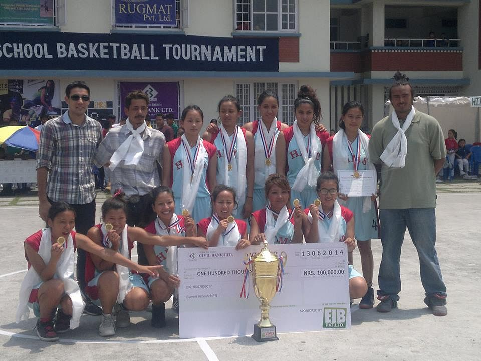 Nepal Invitational Women's Club Basketball Tournament: Hosts HIMS win title