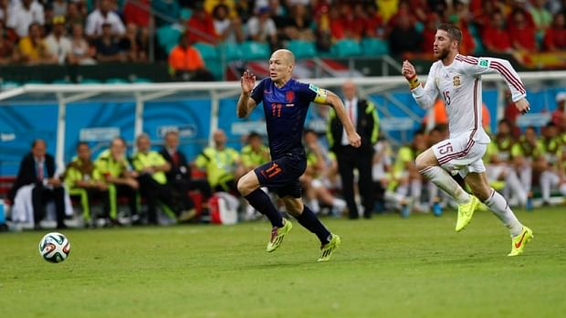 Robben becomes the fastest footballer after his record sprint against Spain