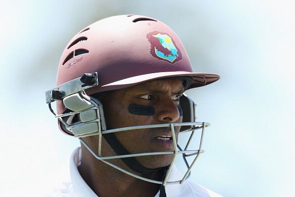 Jermaine Blackwood's fifty and Shivnarine Chanderpaul's milestone put Windies on top