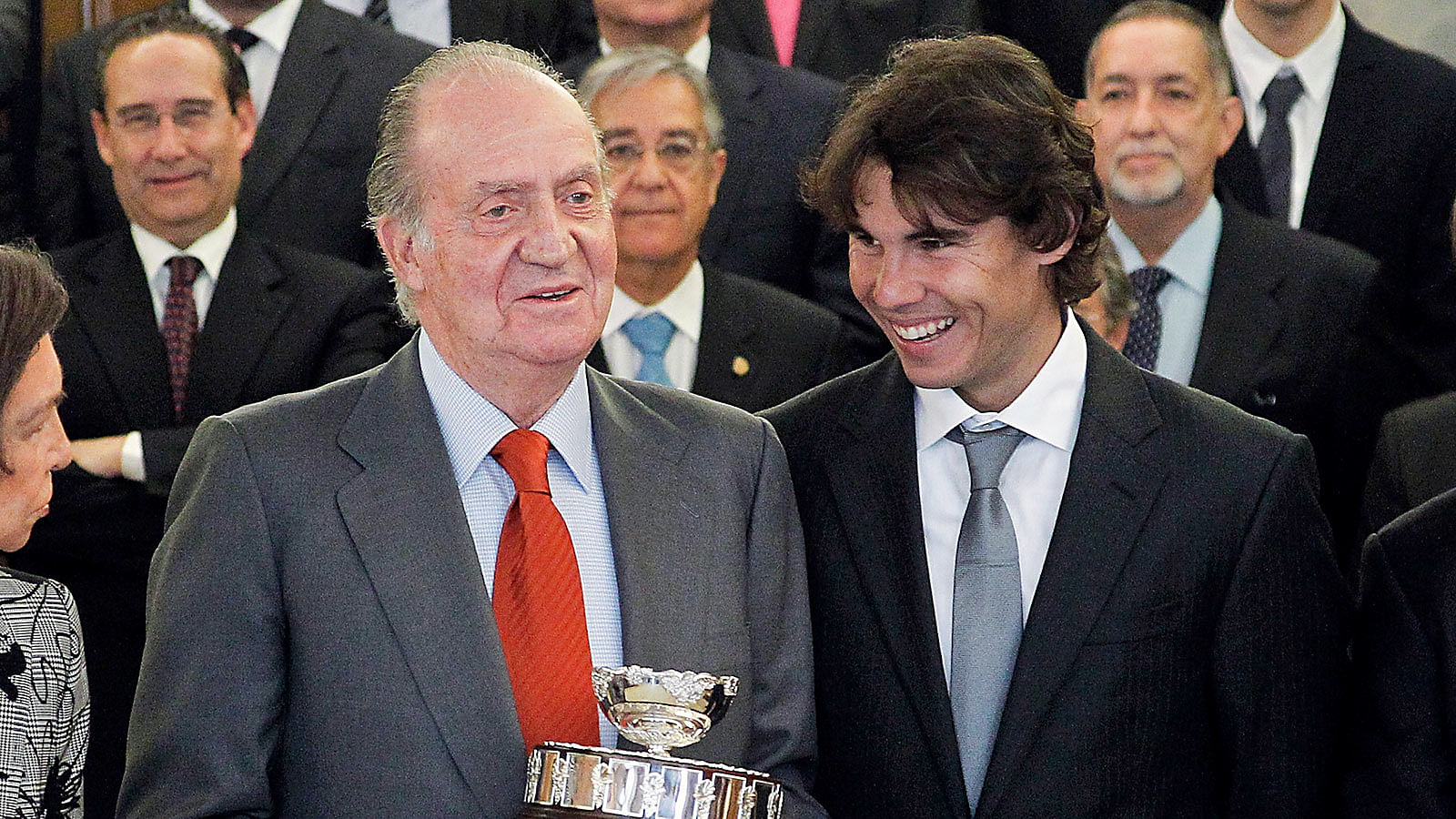 Rafael Nadal receives support from Spanish king Juan Carlos for French Open final