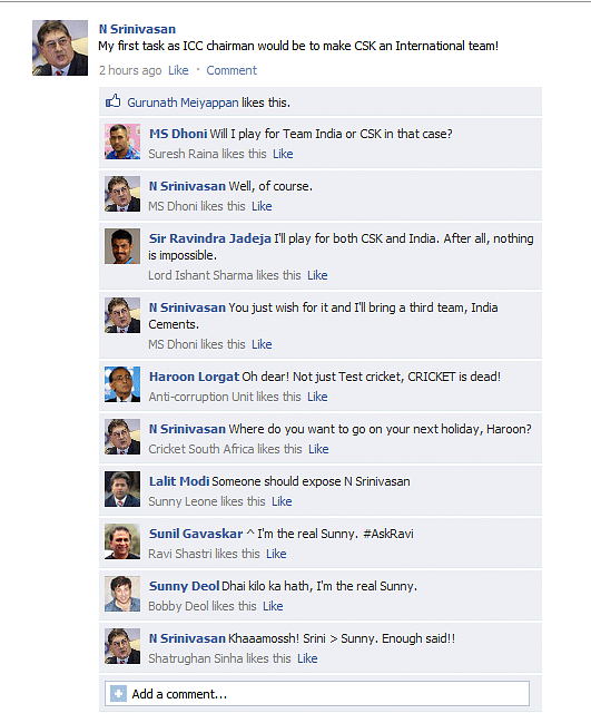 FB Wall: N Srinivasan talks about his first priority as ICC Chairman