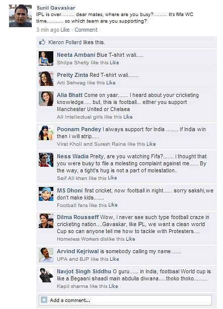 FB Wall: Football World Cup fever reaches India as celebrities come calling