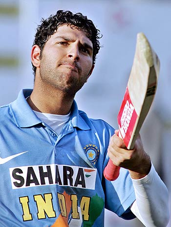 Yuvraj Singh's debut in International Cricket