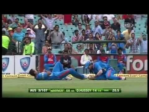 Video: Suresh Raina completes the catch and collides with Irfan Pathan