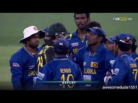 Video: Glenn Maxwell enters into altercation with Sri Lankan players