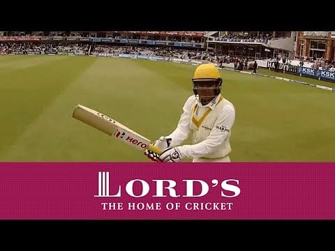 Video: GoPro view - Adam Gilchrist and Virender Sehwag walking out to bat for ROW at Lord's