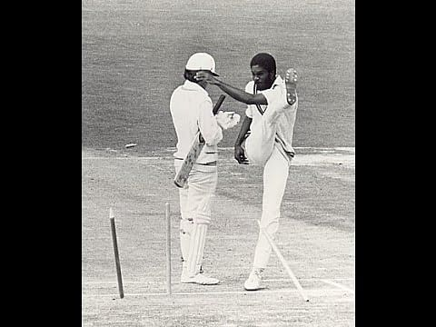 Video: Michael Holding kicks stumps in anger