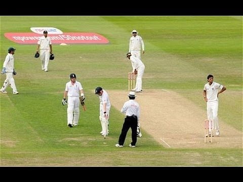 Video: Ian Bell's run out controversy at Trent Bridge in 2011
