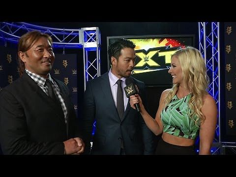 Video: Kenta speaks to Renee Young after arriving at NXT