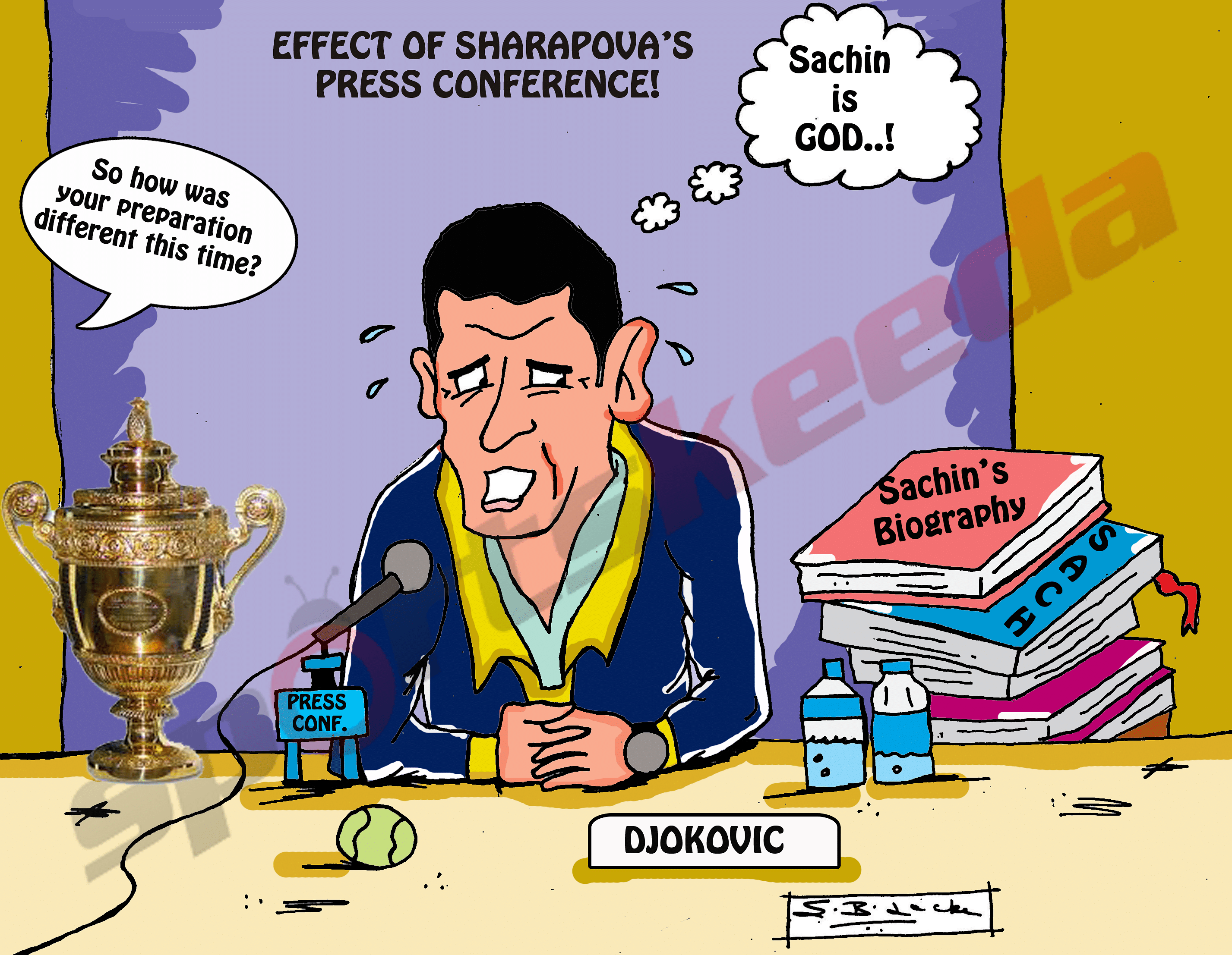 Comic: Novak Djokovic's biggest test!