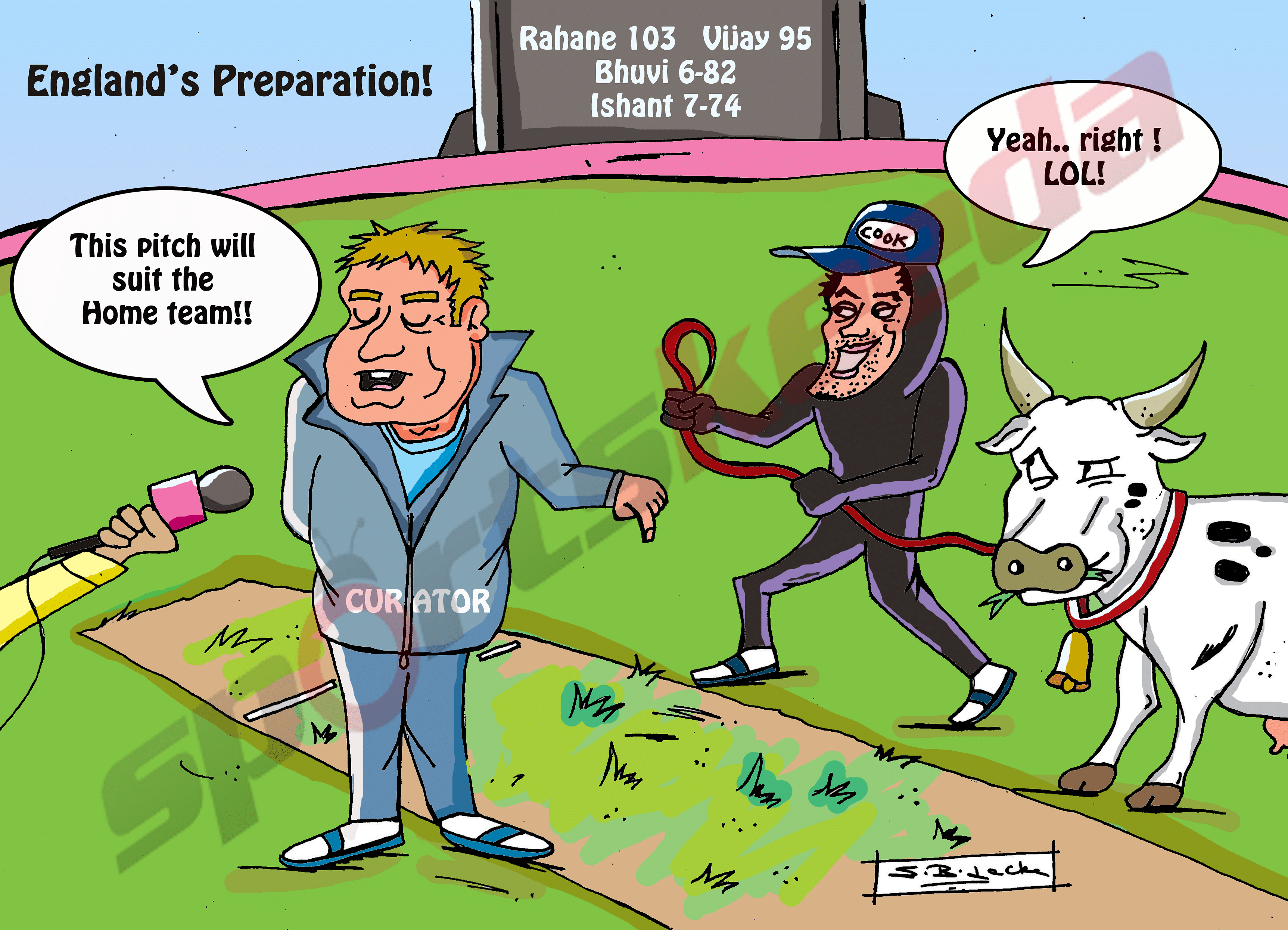 Comic: England's pitch preparation