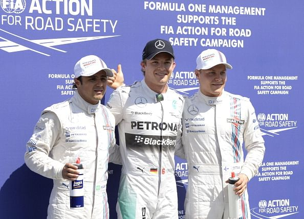 Rosberg takes pole at German Grand Prix as Hamilton hits trouble