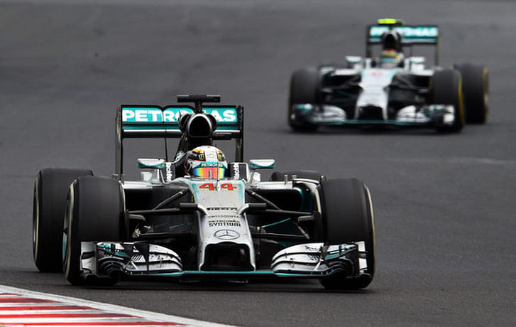 Hungarian Grand Prix: Lewis Hamilton shrugs off team orders to let Nico Rosberg pass him