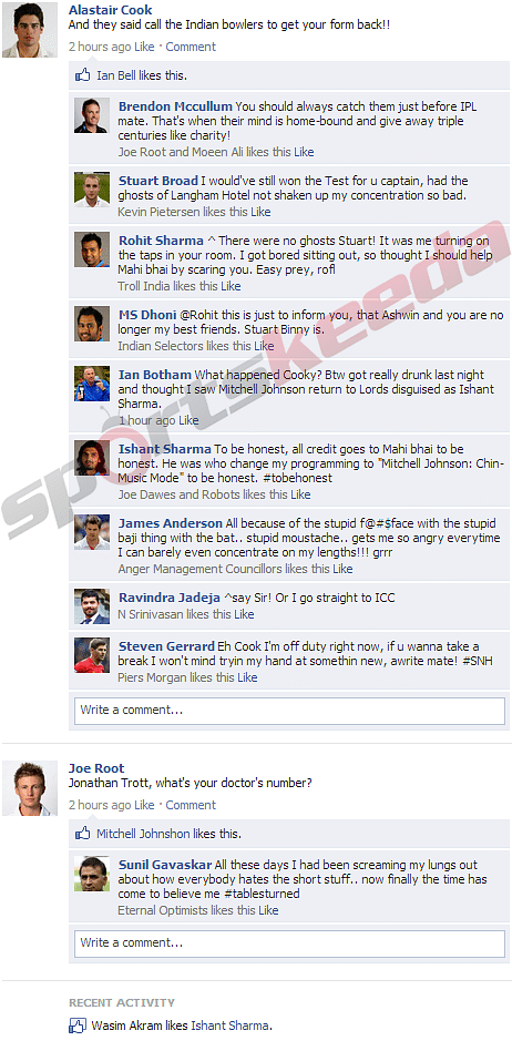 FB Wall: Alastair Cook and Joe Root having troubles after Lord's Test