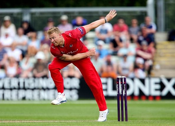 Andrew Flintoff makes successful return to cricket with Lancashire