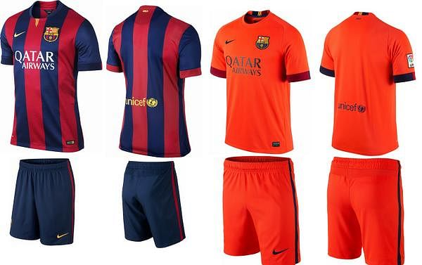 Barcelona's 2014-15 official kit now available in India