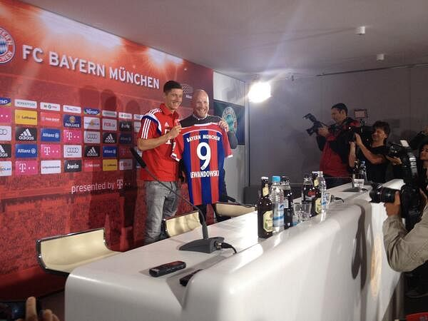 Robert Lewandowski is now officially a Bayern Munich player