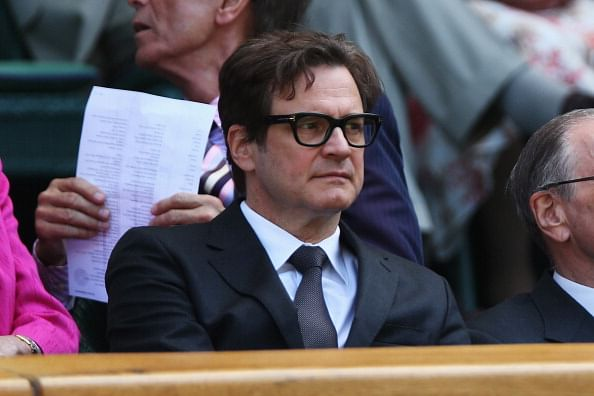 Colin Firth makes his presence at Wimbledon
