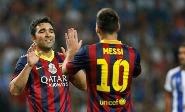 Deco scores a brace during star-studded testimonial between Porto and Barcelona