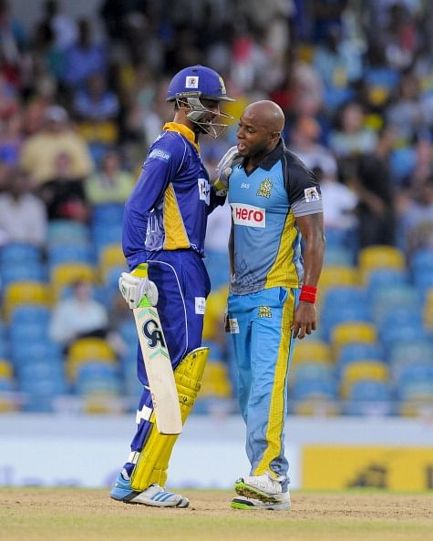 Video: Shoaib Malik and Tino Best involved in heated exchange in Caribbean Premier League