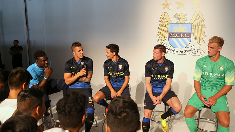 Manchester City and Nike unveil away kit for the 2014/15 season