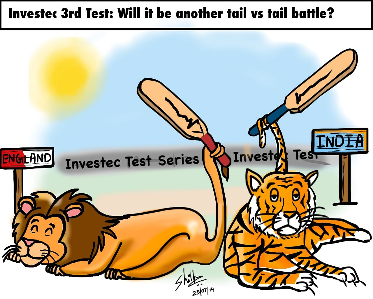 Comic: England vs India 2014 - The battle of the tailenders