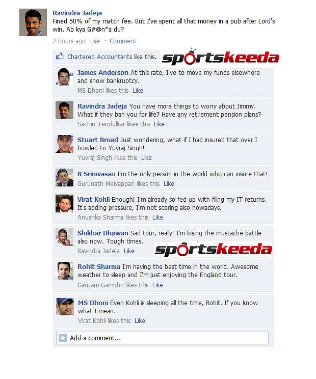 FB Wall: Ravindra Jadeja frustrated, James Anderson scared and Virat Kohli trolled