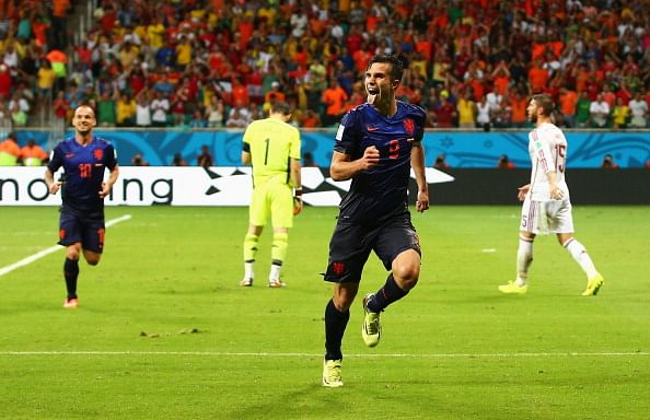 Robin van Persie a doubt for Netherlands semi-final against Argentina