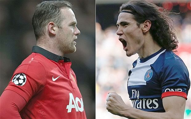 Rumour: Manchester United propose sensational swap deal of Wayne Rooney for Edinson Cavani; interest expressed in Fiorentina's Juan Cuadrado also