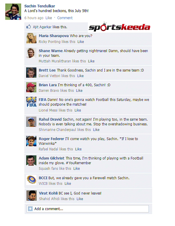 FB Wall: Sachin Tendulkar geared up for comeback match