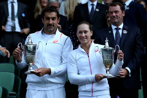 Wimbledon 2014: Nenad Zimonjic and Sam Stosur win mixed doubles title