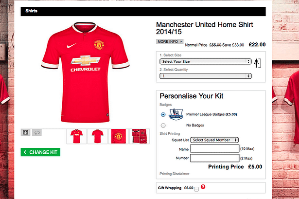 Manchester United store mistake helps fans buy 2014/15 kit for cheap