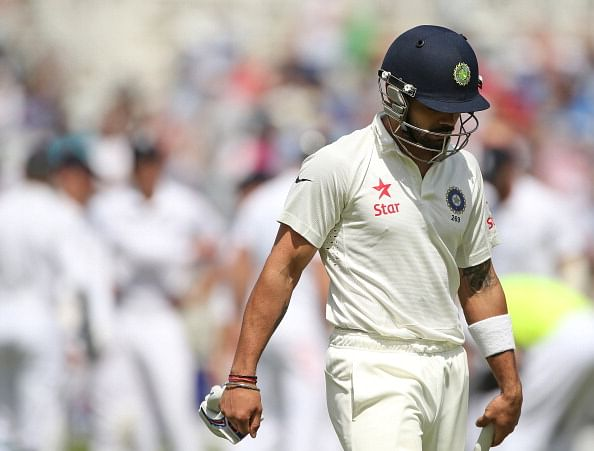 Childhood coach of Virat Kohli advises him to not play square of the wicket in England