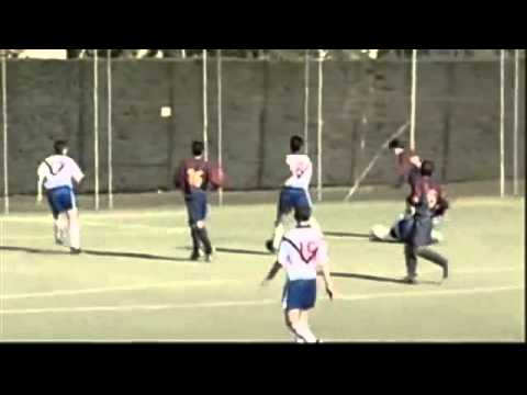 Clips of young Lionel Messi playing for Newell's Old Boys and Barcelona's La Masia