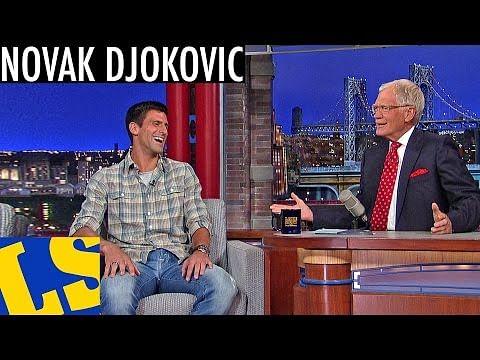 Novak Djokovic makes an appearance on David Letterman Show