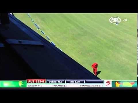 Video: Mitchell Johnson breaks commentary box window