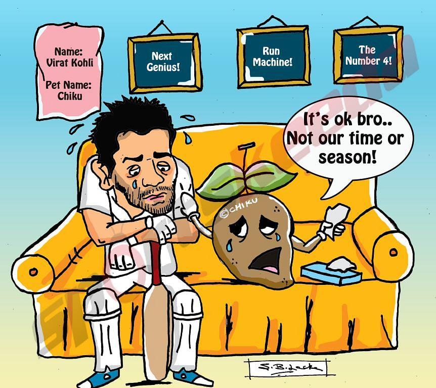 Comic: England v India - Virat Kohli out of form
