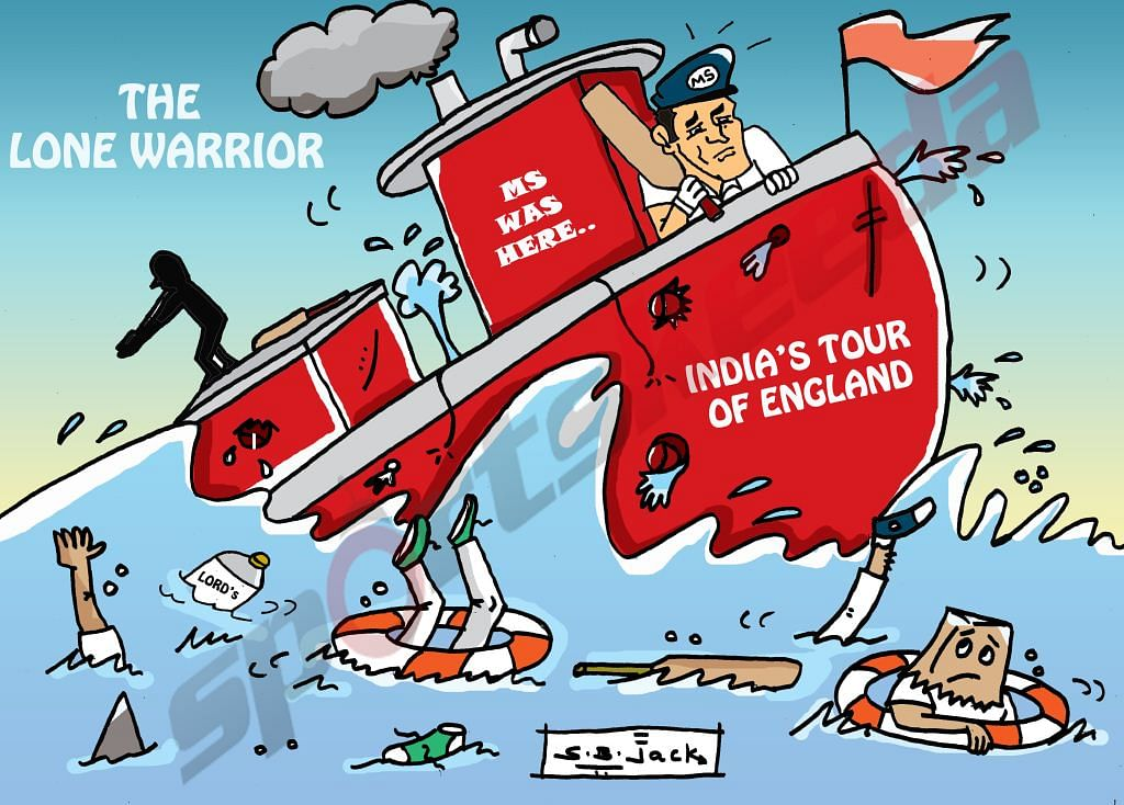 Comic: MS Dhoni - India's lone warrior