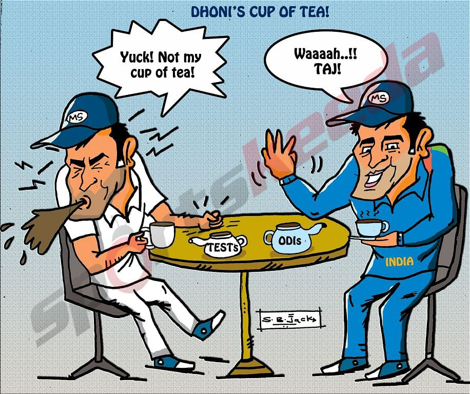 Comic: MS Dhoni's cup of tea