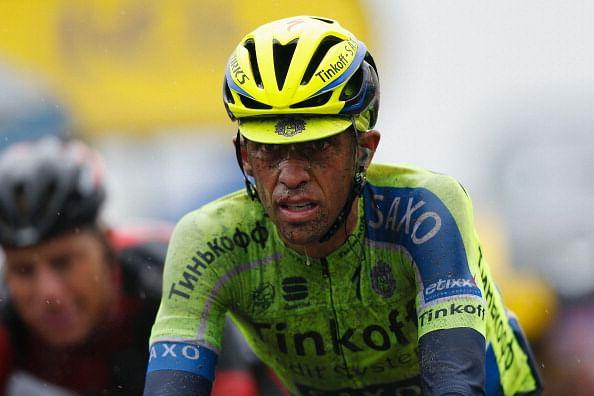 Albert Contador's reveals the speed of his Tour de France crash on twitter